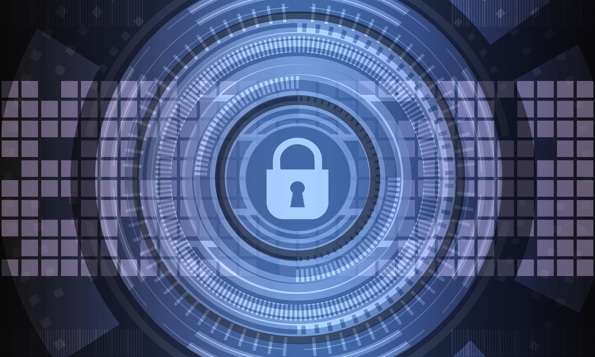 An image of a lock in a digital environment