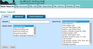 Example of Web Voyager interface