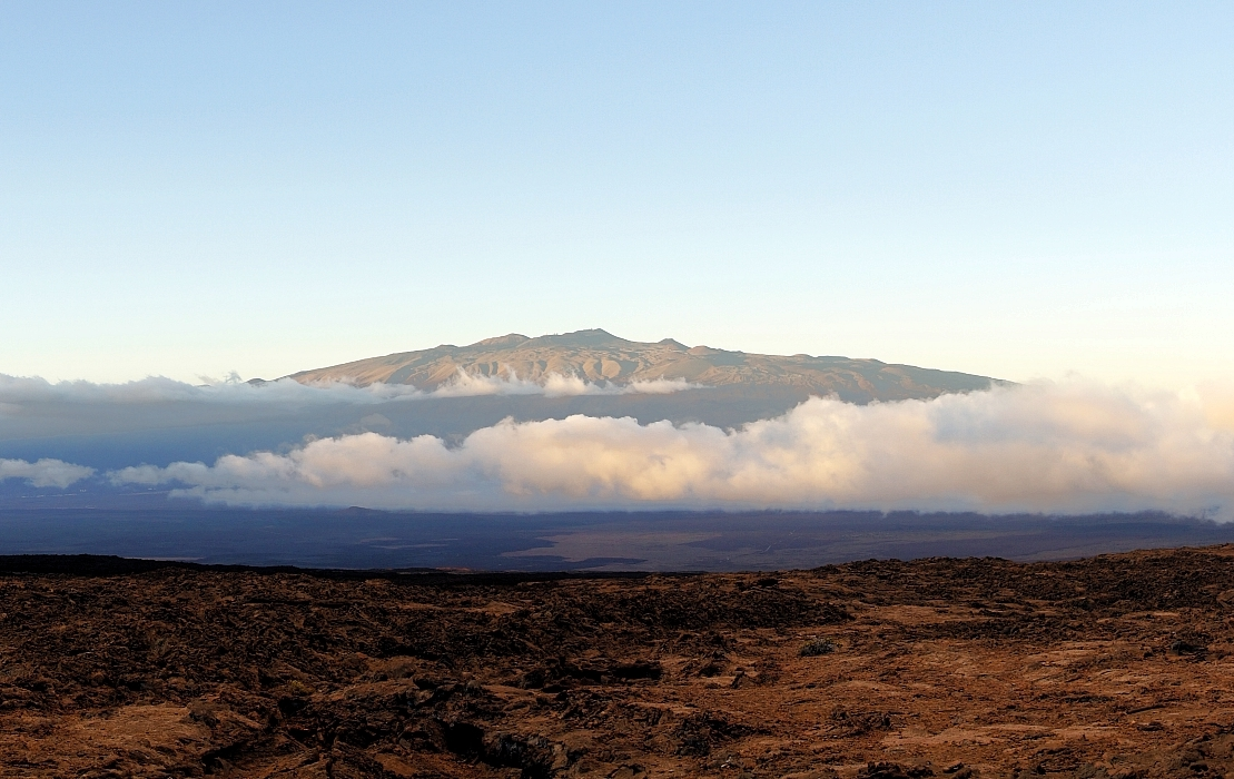 A pic of Mauna Kea, as seen from Mauna Loa.