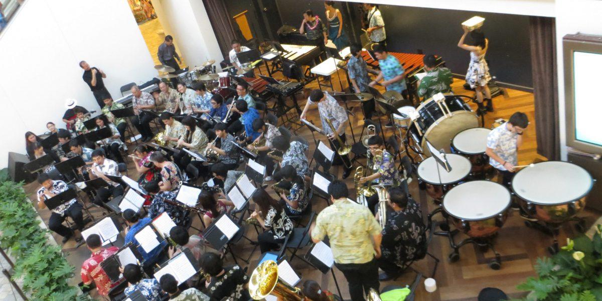 Band performing at Ala Moana Center