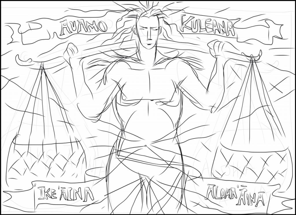 preliminary sketch of auamo