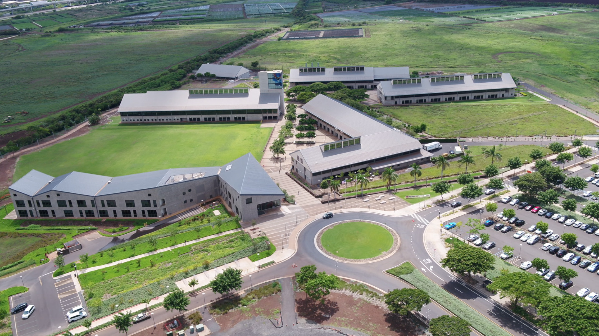 Aerial shot of the UH West Oahu Campus