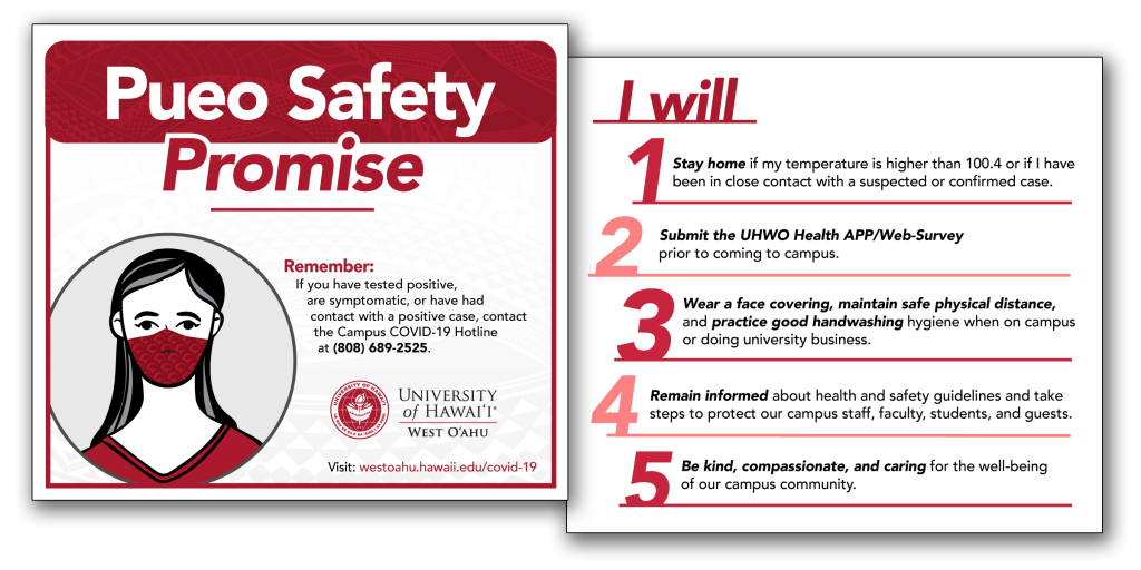 Sample image of the Pueo Safety Promise card.