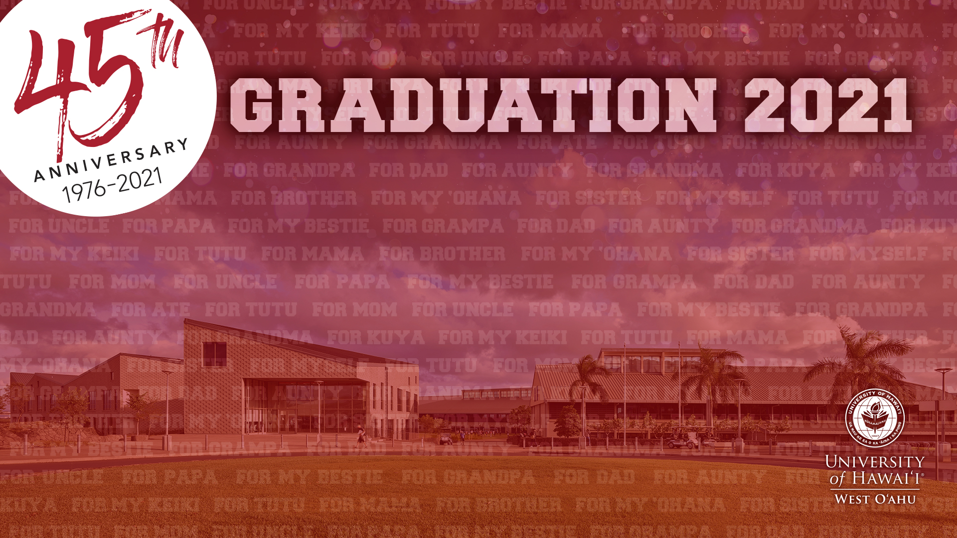 Graduation 2021 Graphic For A Zoom Background.